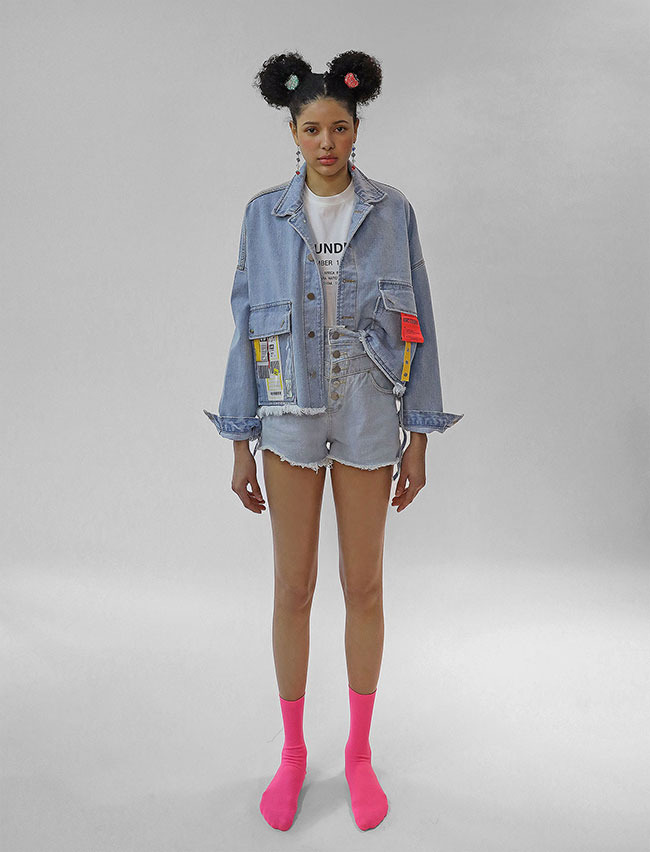 COLLAGE DENIM JACKET